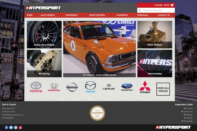 Hypersport Website Design