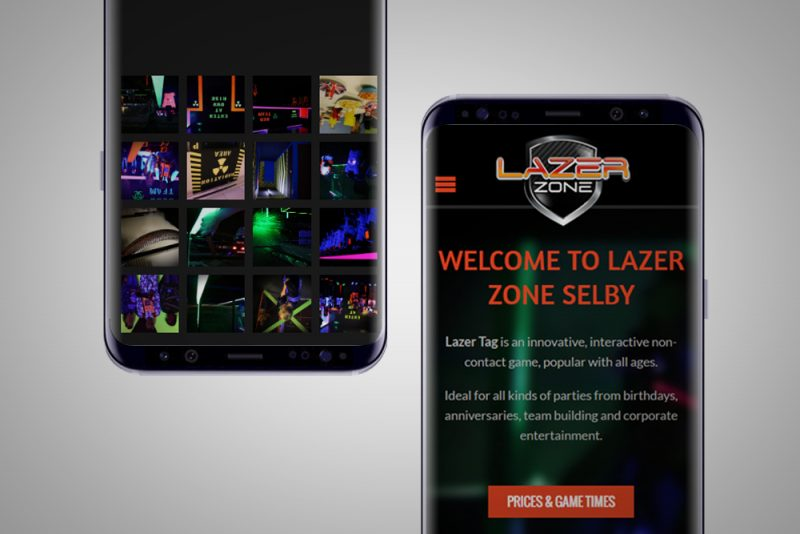 Lazer Zone Selby Web Design