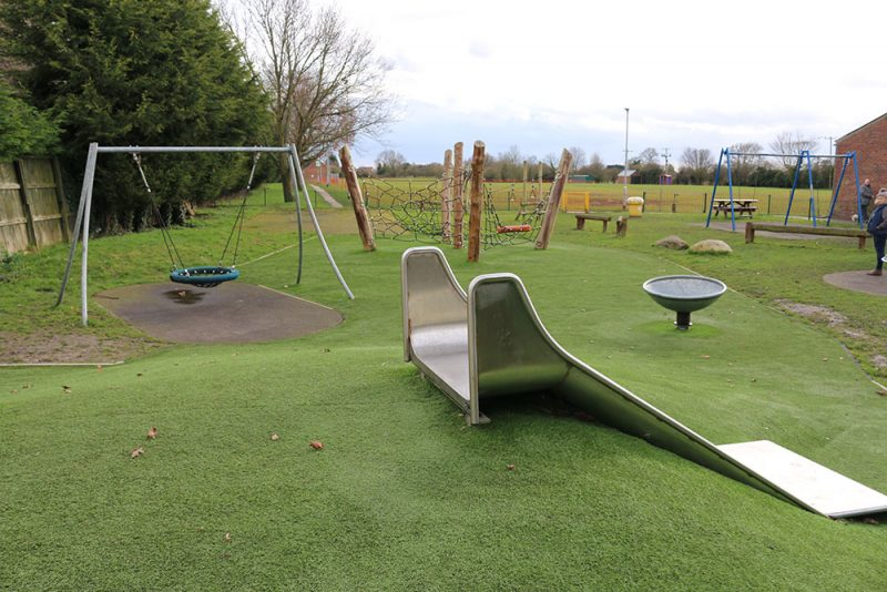 Holme Village Hall Play Area Overview