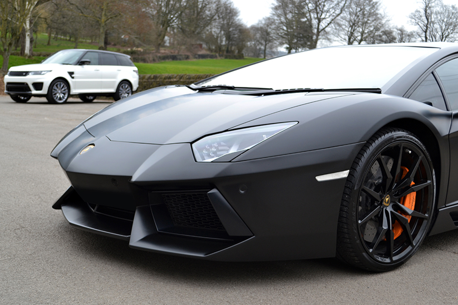 Lamborghini Aventador Satin Black Photography