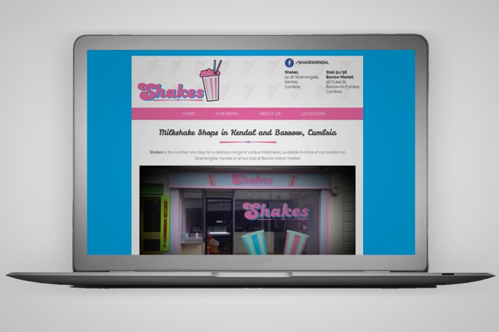 Shakes Website Macbook