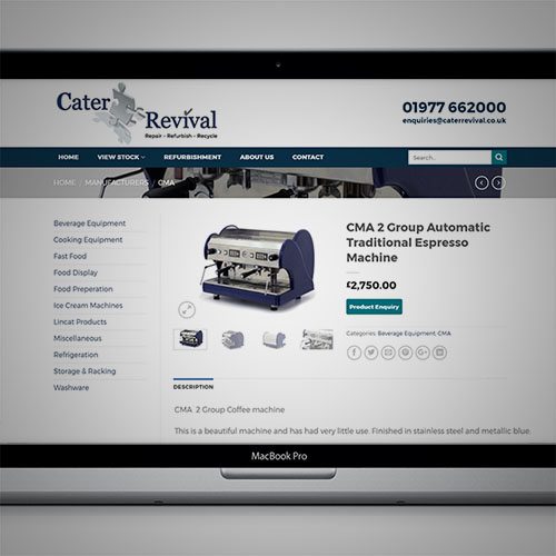 Cater Revival Web Development