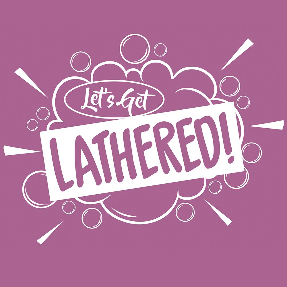 Lets Get Lathered Branding Logo